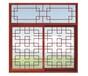 厂家定制加工中式木格雄健仿古铝门窗品牌