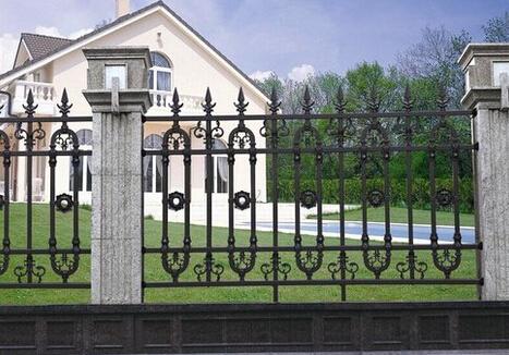 铸铁护栏围墙防护栏生产厂家宝东铁艺