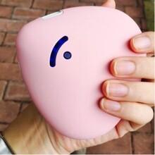 幸运石便携爱心暖手宝可爱马卡龙暖宝充电宝USB迷你电热饼防爆图片