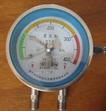 160kpa差壓表--正負擺動差壓表--帶三色環警示線--壓差表--壓差計圖片