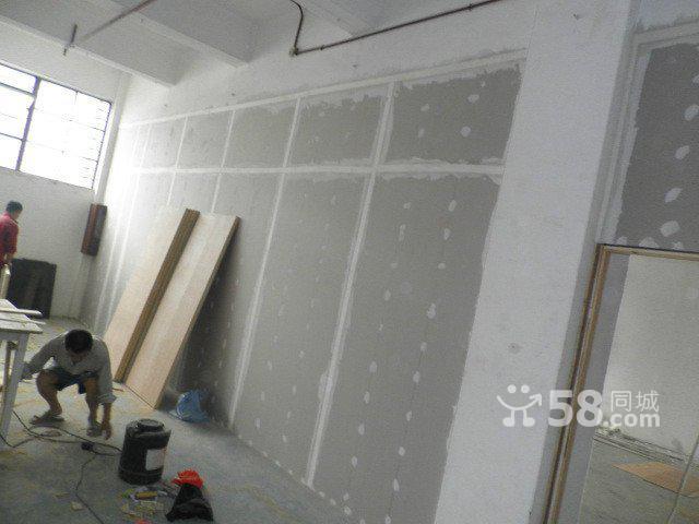 南山办公室装修石膏板隔墙天花吊顶强弱电布线铺地毯