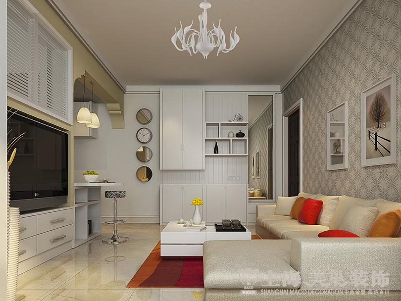 海斯顿公园79平方两室两厅现代简约案例装修效果图