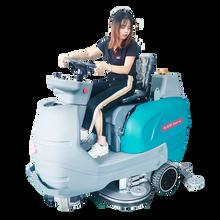 驾驶式洗地机机场用驾驶式洗地机双刷洗地机停车库用洗地机图片
