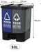 爆款干濕垃圾桶,分類垃圾桶,腳踩雙桶垃圾桶,大型小區,戶外垃圾桶