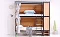 宿舍连体公寓床组合大学生学校钢制上床下桌公寓床