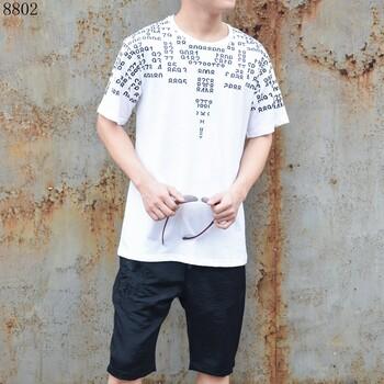 卡季男装2018男装短袖时尚短袖
