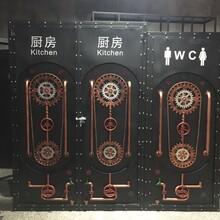 美式復古鐵藝集裝箱門loft工業風酒吧KTV咖啡廳鐵門衛生間鐵門圖片