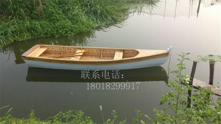 湖南河北欧式木船出售公园景区装饰船手划船一头尖小
