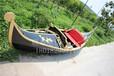 欧式观光船上海黄埔公园木质手划船欧式船厂家直销贡多拉游船客船
