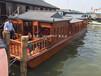 哪里有小画舫卖可以在木船上吃饭山东济南古代画舫木船餐饮客船