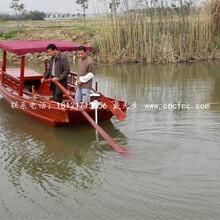 供应纯手工一头尖木船欧式手划船仿古带帆木船公园装饰摆件
