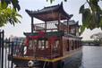 出售雙層畫舫船水上觀光旅游船特色餐飲船楚風木船專業定制