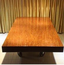 巴花实木大板桌293-143-15办公桌会议桌书桌电脑桌大班台
