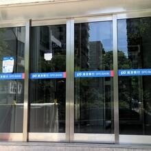 天津西青區定制不銹鋼玻璃門廠家天津廠家安裝黑鈦金玻璃門圖片