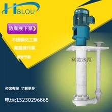 利欧50FY-25液下防腐泵、化工泵、耐酸耐碱泵、耐腐蚀污水泵