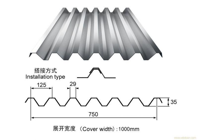 科信利达YX35-125-750型楼承板,板型优美
