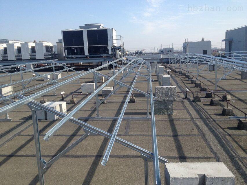屋顶分布式光伏电站支架,平顶太阳能光伏支架