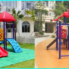 重庆江北区幼儿园组合滑梯,PVC安全地板哪里有卖的?