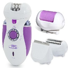 外贸4合1充电式剃毛磨脚器带钻多功能电动脱毛器理发器女士剃毛器图片