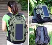户外运动装备品牌直销太阳能充电双肩背包男女登山包