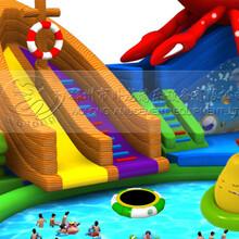 供应郑州卧龙龙虾为主题造型嬉水乐园设备龙虾嬉水水滑梯