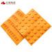 橡膠盲道磚300黃色防滑耐磨抗凍性人行道車站盲道磚廠家價