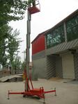 一人高空作业平台单桅铝合金升降机单柱垂直升降机升降机价格图片