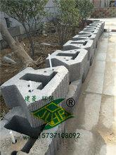 平頂山舒布洛克453015生態擋土墻磚、混凝土擋土墻磚、砌塊磚量大從優圖片