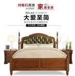 长沙星沙博丰家居广场简美风格全实木床美式床美式卧室婚床双人大床图片