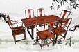 紅木餐桌家具裝修品味追求素面大紅酸枝餐桌家具木紋美觀