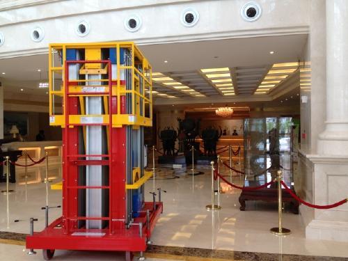 小型铝合金升降梯订购高桅柱升降台小区维修高空设备机械