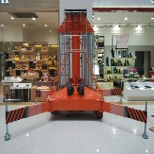 天津市南开红桥区热销启运20米套缸式升降平台QYTG0.125-20展会大厅高空作业平台图片