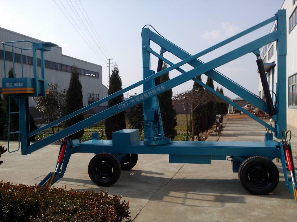厂家直销自行曲臂式路灯维修升降机大庆市宜昌市滁州市启运折臂式高空作业平台