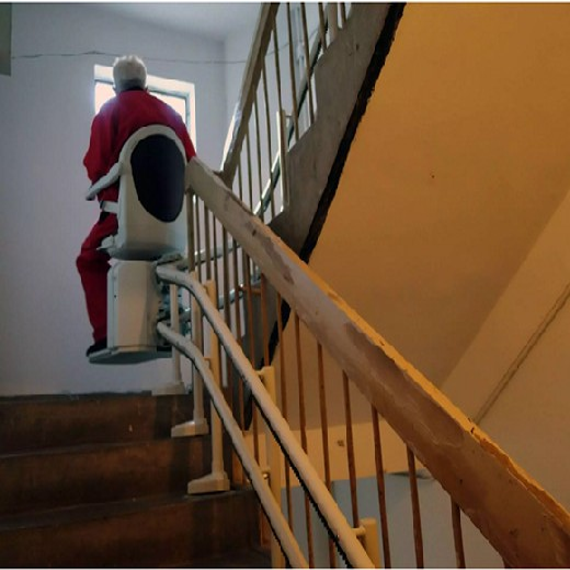阜陽定制老人電梯老人升降臺座椅式爬樓設備樓梯升降椅