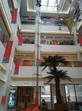 安装维修套缸液压举升机移动人工辅助行走高空作业平台价格启运蚌埠市厂家图片