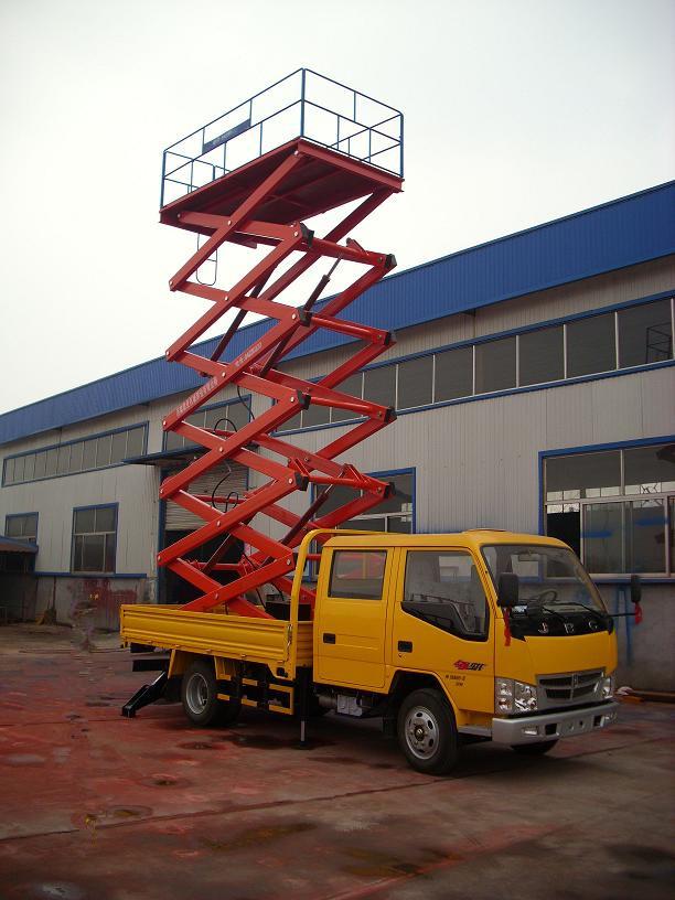 肇庆市端州市启运车载平台折臂式举升机车载剪叉式式降机