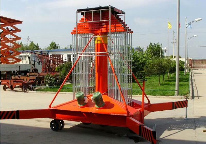 大连市西岗区启运工业升降台液压式登高梯辅助行走套缸升降机