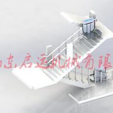 复式电梯老旧小区斜挂楼梯升降机无障碍曲线型残疾人电梯长春市新疆供应图片