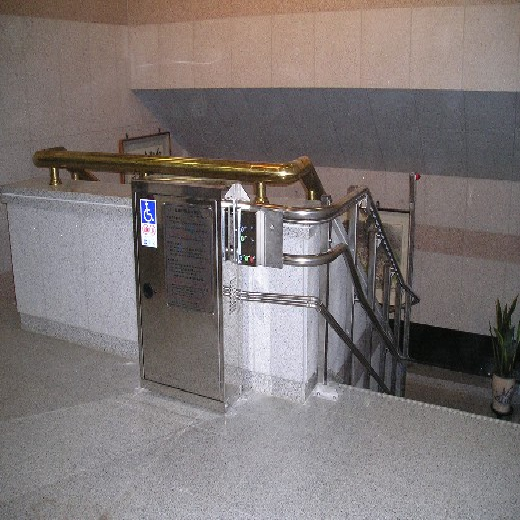 安裝樓梯升降作業平臺彎軌爬樓設備濟南啟運無障礙輪椅自動升降梯