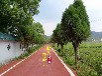 彩色路面厂家路面防滑材料自行车道材料
