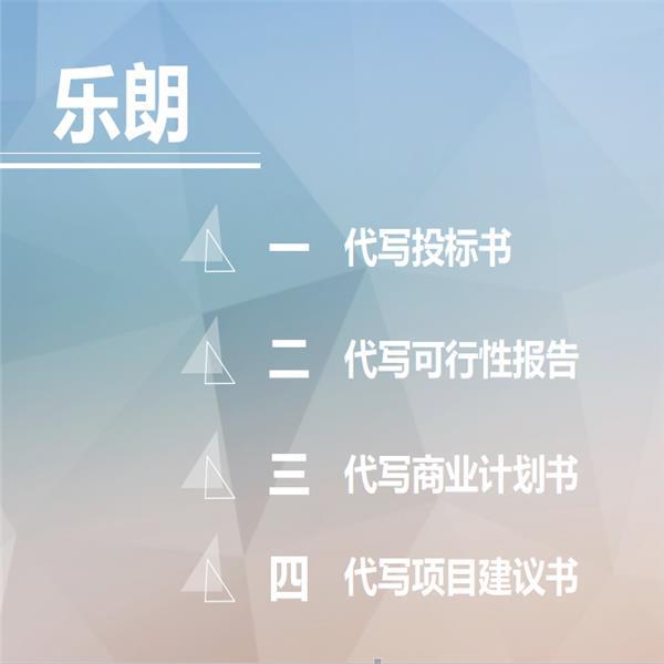 渭南写商业计划书和写招商引资方案
