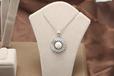 厂家批发S925纯银时尚简约花型天然淡水珍珠吊坠一件代发