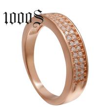 925纯银手饰品多色微镶锆石时尚出口女戒高档戒指