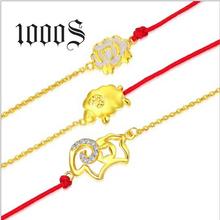 本命年手链红绳手串电镀厚18K黄金