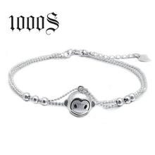 S925纯银项链超萌可爱小猴子手链