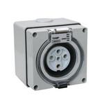 指印工业防水插座四相五线63A工业插座ip66图片