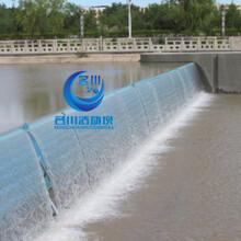 液压活动升降坝合页坝型号MC-WA65替代橡胶坝和翻板坝水闸拦水坝钢坝闸拦河堰图片