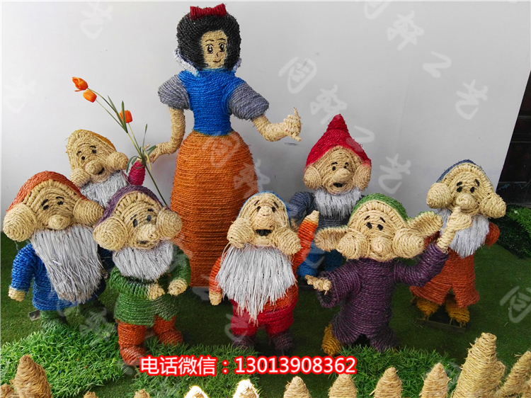 手工编织家居饰品,玉米皮编织技术