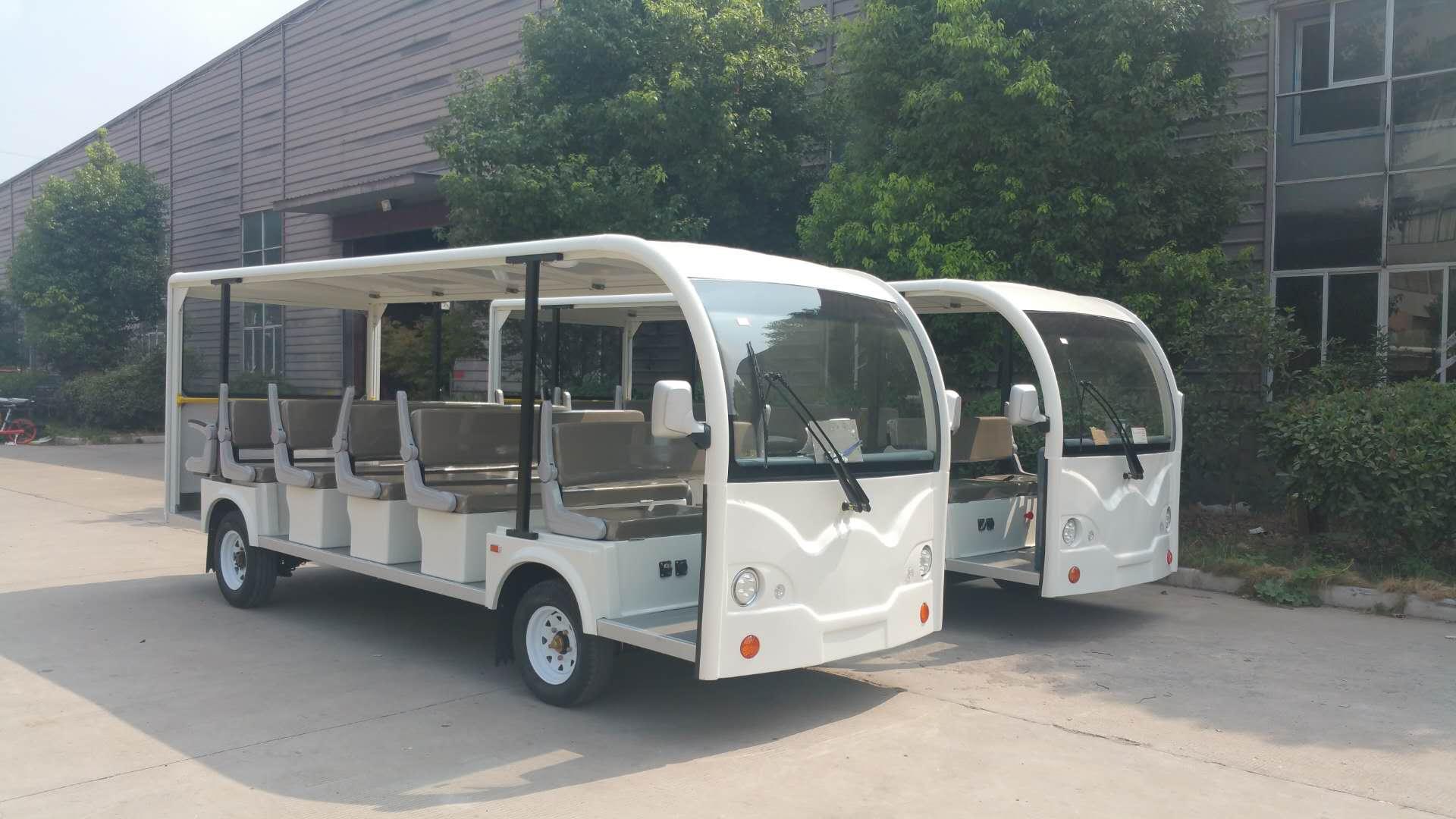 朗迈开放式电动观光车23座厦门观光电瓶车景区电瓶游览车价格职工电动公交车