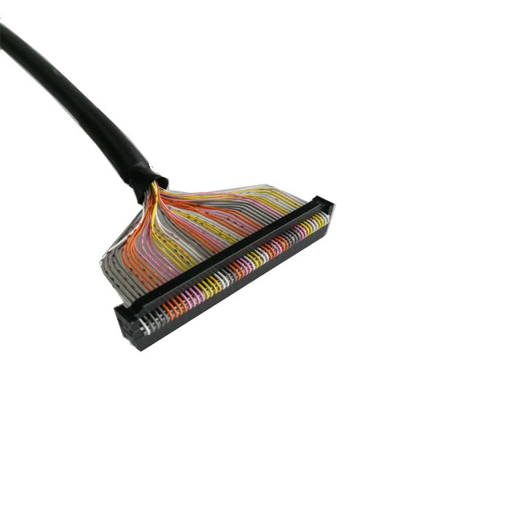 电机控制线排线牛角排插线